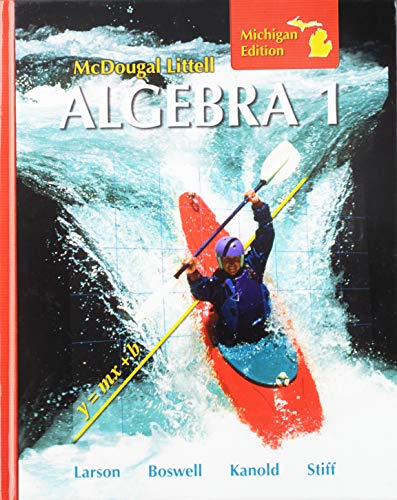 9780618888030: McDougal Littell: Algebra 1, Michigan Edition
