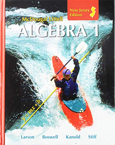 9780618888344: McDougal Littell Algebra 1 New Jersey: Student Edition 2008