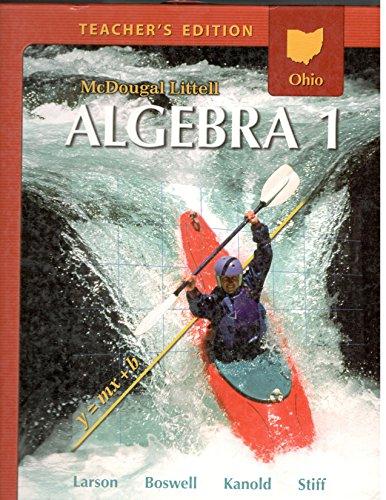 9780618888412: McDougal Littell Algebra 1 Ohio: Teacher's Edition Algebra 1 2008