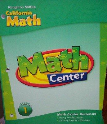 9780618889044: Houghton Mifflin Mathmatics California: Math Center Resources Level 1