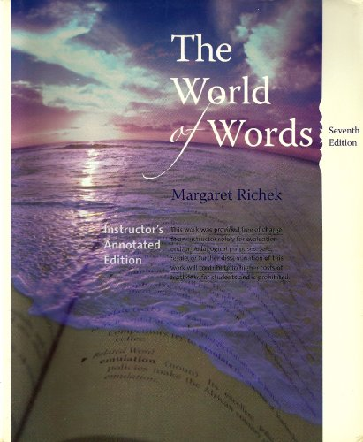 9780618890392: The World of Words: Vocabulary for College Success, Instructor's Annotated Edition