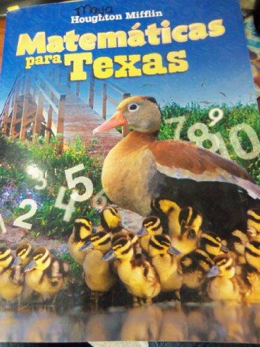 9780618891344: Matematicas para Texas, Level 1: Kindergarten - Consumables, Pupil Edition (Spanish Edition)