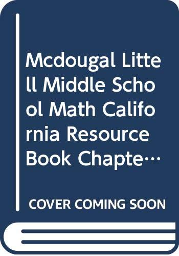 McDougal Littell Middle School Math California: Resource Book Chapter 7 Course 1: LITTEL, MCDOUGAL