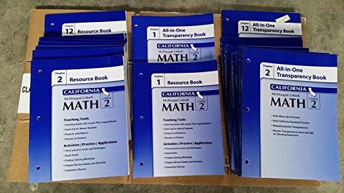 9780618892174: McDougal Littell Middle School Math California: Resource Book Chapter 1 Course 2