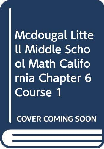 McDougal Littell Middle School Math California: Transparency: MCDOUGAL LITTEL