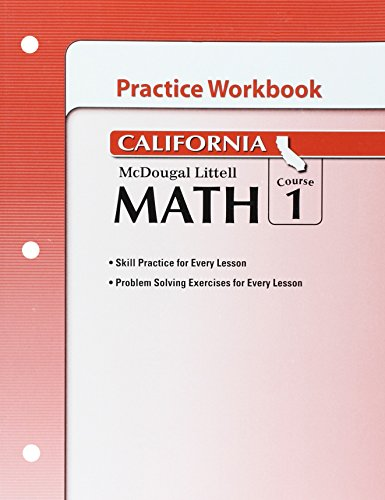 9780618893003: McDougal Littell Middle School Math California: Practice Workbook Course 1
