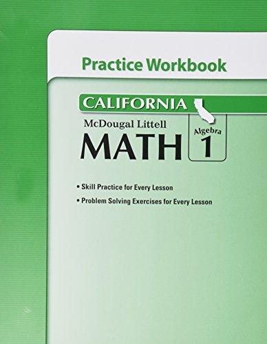 9780618893027: McDougal Littell Middle School Math California: Practice Workbook Algebra 1