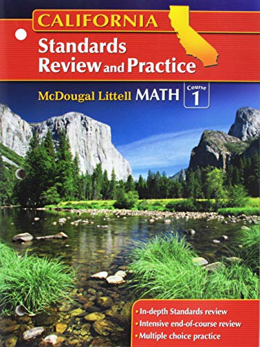 9780618893416: McDougal Littell Middle School Math California: Standards Review and Practice (Student) Course 1