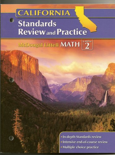 9780618893423: McDougal Littell Middle School Math California: Standards Review and Practice (Student) Course 2