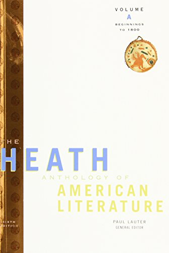 9780618897995: The Heath Anthology of American Literature: Volume A: Beginnings to 1800