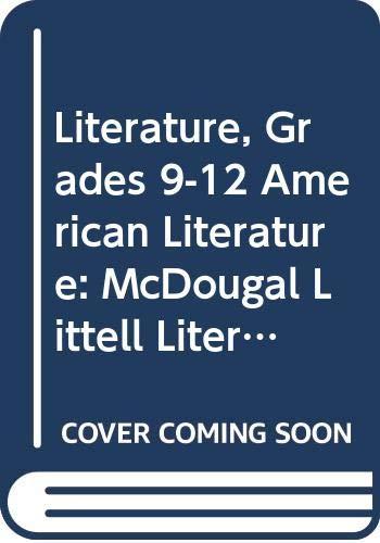 9780618901609: McDougal Littell Literature: Student Edition American Literature 2009