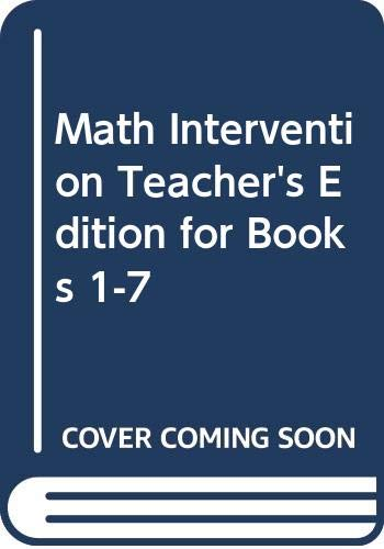 9780618905195: Math Intervention Teacher's Edition for Books 1-7