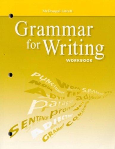 9780618906444: McDougal Littell Literature: Grammar for Writing Workbook Grade 6