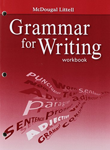 9780618906451: McDougal Littell Literature: Grammar for Writing Workbook Grade 7