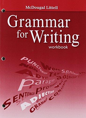 9780618906451: McDougal Littell Literature: Grammar for Writing Workbook Grade 7