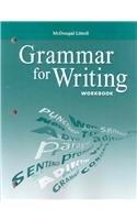 9780618906468: McDougal Littell Literature: Grammar for Writing Workbook Grade 8