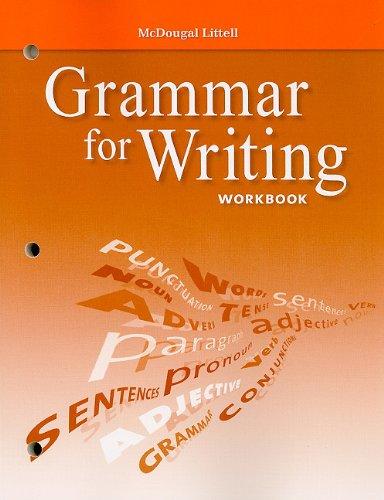 9780618906475: McDougal Littell Literature: Grammar for Writing Workbook Grade 9