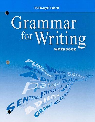 9780618906482: McDougal Littell Literature: Grammar for Writing Workbook Grade 10