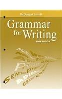 9780618906499: McDougal Littell Literature: Grammar for Writing Workbook Grade 11 American Literature