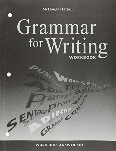 9780618906543: McDougal Littell Literature: Grammar for Writing Workbook Answer Key Grade 9