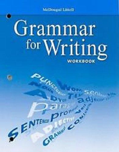 9780618906550: McDougal Littell Literature: Grammar for Writing Workbook Answer Key Grade 10