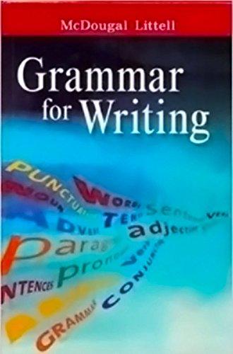 9780618906574: McDougal Littell Literature: Grammar for Writing Workbook Answer Key British Literature
