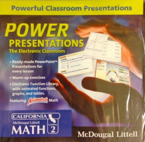 9780618906802: McDougal Littell Middle School Math California: PowerPresentations: The Electronic Classroom CD-ROM Course 2