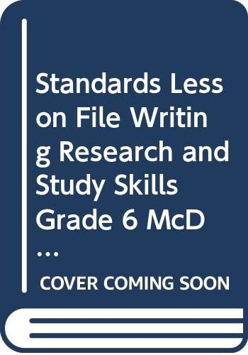 9780618907021: Standards Lesson File, Writing, Research, and Study Skills, Grade 6, McDougal Littell Literature