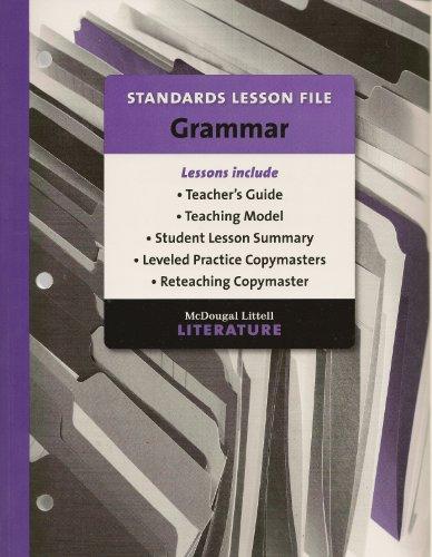 9780618907298: McDougal Littell British Literature Standards Lesson File Grammar