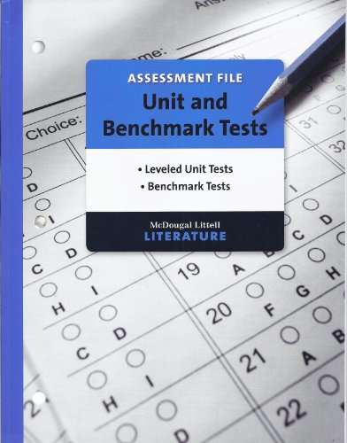 9780618907427: McDougal Littell Literature Assessment File Unit and Benchmark Tests Grade 10