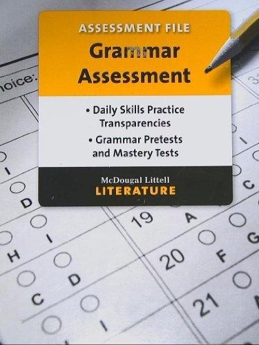 9780618909551: McDougal Littell, Literature, Assessment File, Grammar Assessment, Grade 6