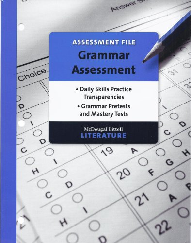 9780618909599: McDougal Littell Literature Assessment File Grammar Assessment Grade 10