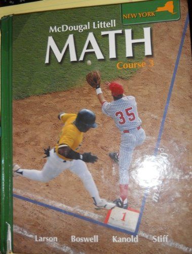 9780618912223: McDougal Littell Math New York: Student Edition © 2008 Course 3 2008