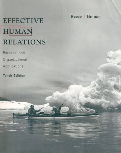 9780618912698: Effective Human Relations: Personal and Organizational Applications