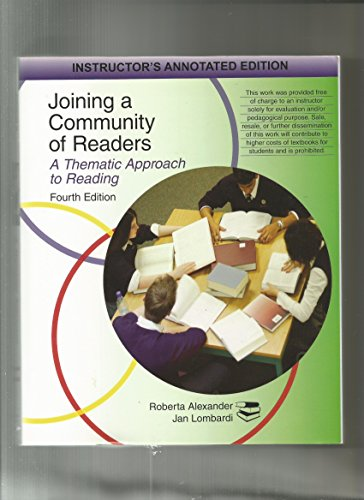 9780618917778: Joining a Community of Readers: A Thematic Approach to Reading