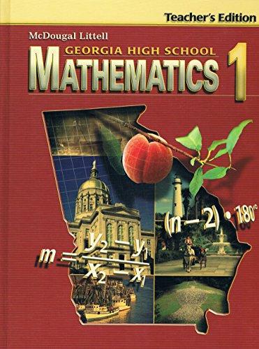 Georgia High School Mathematics 1 Teacher's Edition