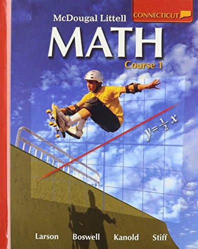 9780618923519: McDougal Littell Math Connecticut: Student Edition Course 1 2008