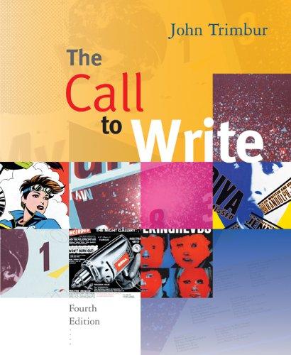 9780618923748: The Call to Write