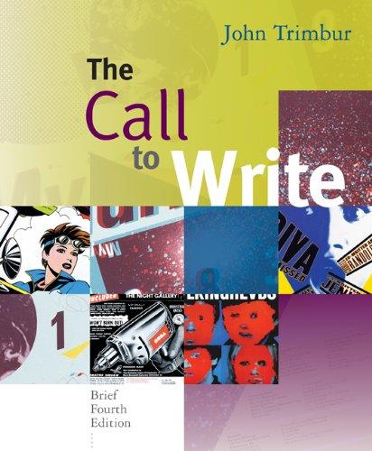 9780618923779: The Call to Write