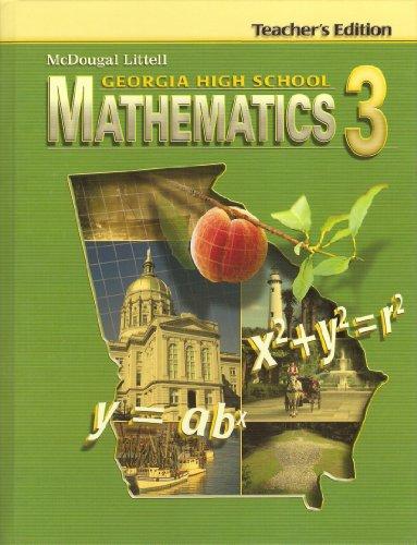 9780618923830: McDougal Littell Georgia High School Mathematics 3 (Teacher's Edition)