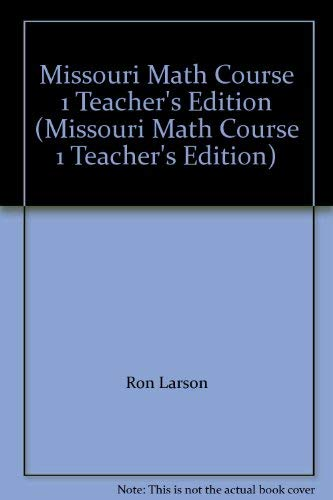 9780618924158: Missouri Math Course 1 Teacher's Edition (Missouri Math Course 1 Teacher's Edition)