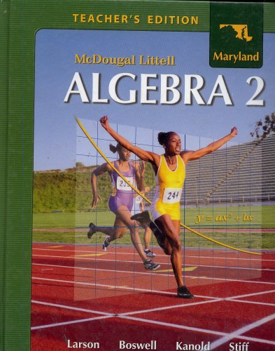 9780618924264: Algebra 2 Maryland Teacher's Edition