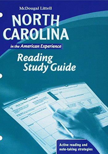 9780618924462: American History, Grades 6-8 Reading Study