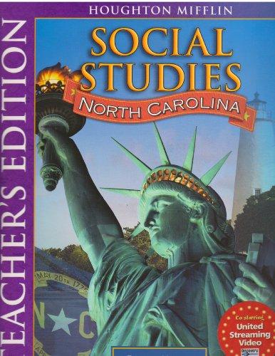 9780618937516: Social Studies North Carolina (North Carolina, People Making A Difference)