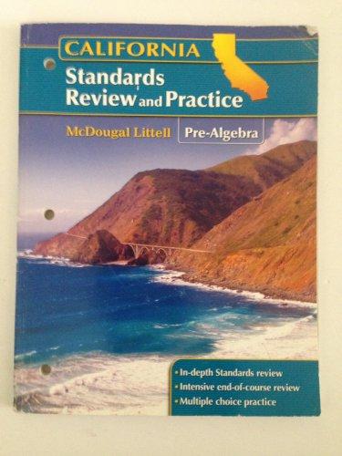 McDougal Littell Pre-Algebra California: Standards Review and: MCDOUGAL LITTEL