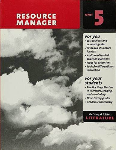 9780618946143: McDougal Littell Literature Resource Manager Unit 5 Grade 7