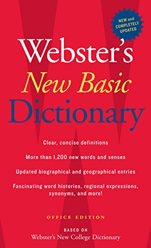 9780618947218: Webster's New Basic Dictionary, Office Edition