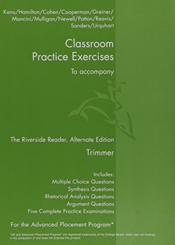9780618947935: Classroom Practice Exercises to Accompany the Riverside Reader Trimmer