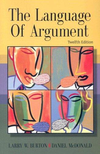 9780618949854: The Language of Argument (DocuTech)
