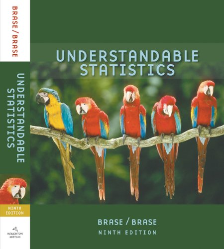 9780618950225: Brase Understandable Statistics Student Solutions Manual Ninth Edition